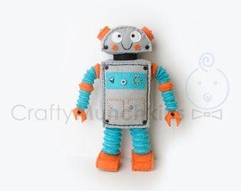 Cute Big Standing Plush Felt Robot