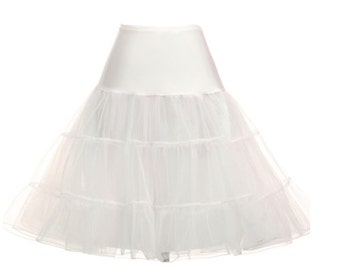 IVORY Petticoat//50s-style Petticoat Crinoline//Vintage inspired Underskirt//Tea Length Petticoat//S-XL// 11 Colors