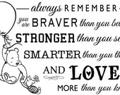 Classic Pooh Piglet Balloon Always Remember Wall Art Decal