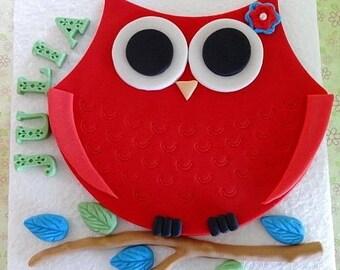 Edible Cake Image Owl : Cake decoration edible owl Etsy