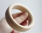 20 mm Wooden bracelet unfinished round straight - natural eco friendly GA20S