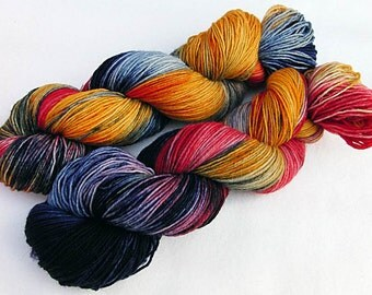Handpainted Sock Yarn, 75 Wool  superwash, 25 Nylon 100g 3.5 oz.  Nr. 584