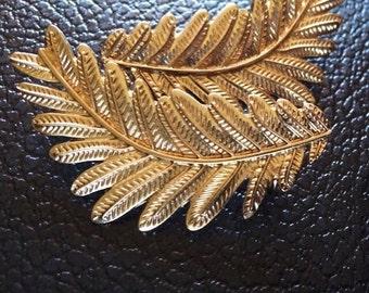 Gold Tone Leaf Earrings