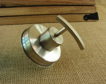Stainless Steel Soap or Lotion Pump Lid - Hand Made Brushed Stainless Steel Mason Jar Pump For Soap or Lotion - Lid Only