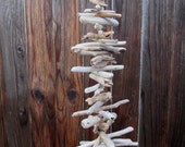 Natural Driftwood Mobile - Hanging Driftwood Tree - Home Decor - Holiday Decor - Yard Art - Beach Cottage Cabin