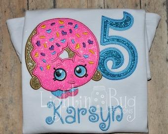 Shopkin Donut Personalized shirt