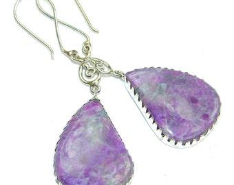Tiffany Jasper Sterling Silver Earrings - weight 8.40g - dim L -2 5 8, W -7 8, t -1 8 inch - code 10-gru-15-46