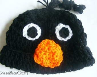 Black Crow Hat NB though 5T for Babies and Toddlers
