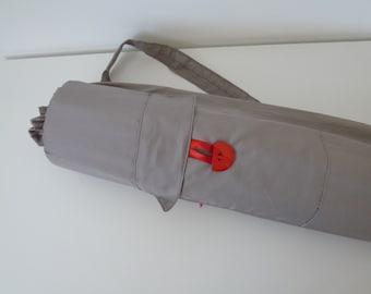 Handmade yoga pilates mat bag, Yoga bag, Gray