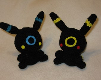 Chibi Umbreon OR Shiny Umbreon amigurumi plush