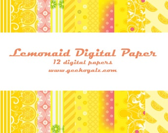Lemonaid Digital Paper Pack