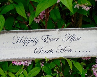 Happily Ever After Wooden Wedding Sign Photo Prop Wedding decor