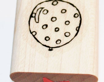 Balloon with Dots Rubber Stamp Retired from Stampin Up