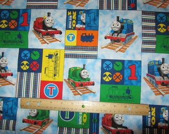 Thomas the train tank fabric by the yard block form for Train fabric by the yard