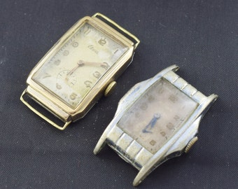 Lot of 2 Antique Wrist Watches Mechanical for Parts AS IS ~ Lot 365