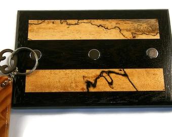 Key Holder / Wood Key Holder / Wall Hanging Keyholder / Magnetic Keyholder / Office Decor / Functional Decor