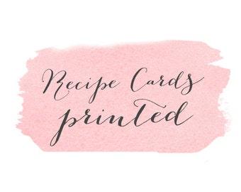 Recipe cards - PRINT OPTION