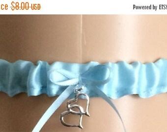Sale Blue Tossing Wedding Garters, Prom Garters, Costume Garters, Bridal Garters