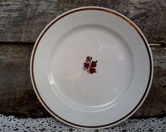 "Vintage Copper ""Tea Leaf"" Dinner Plate, 10"", Royal China Ironstone, Johnson Brothers, Lustreware Ironstone,  England, Kitchen Decor"