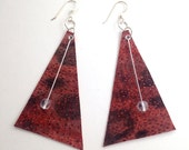 Icelandic fish skin leather earrings with glass beads