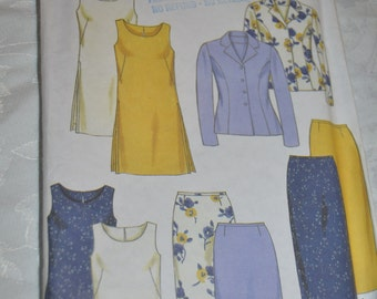 New Look 6837 Misses Jacket Top Dress  and Skirt Sewing Pattern - UNCUT - Sizes 6 - 16