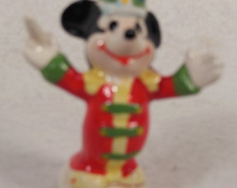 Vintage-Walt Disney-Mickey Mouse  Conducting Music- Ceramic Ornament-No Box