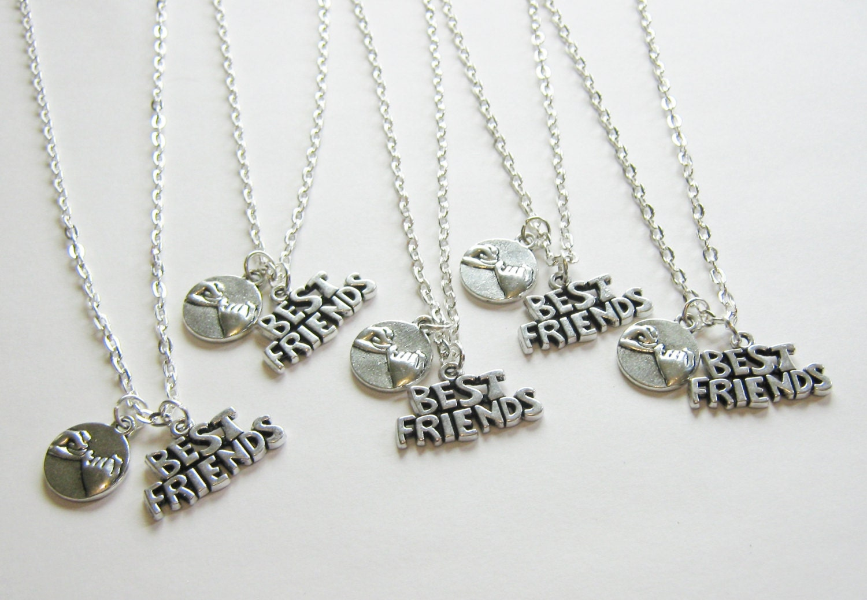 5 best friends necklaces 5 promise by