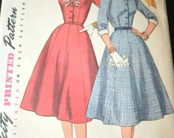 Vintage Simplicity 1427 Sewing Pattern Size 20-1/2 One-Piece Dress