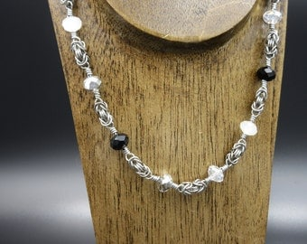 Beaded Byzantine Chainmaille Necklace