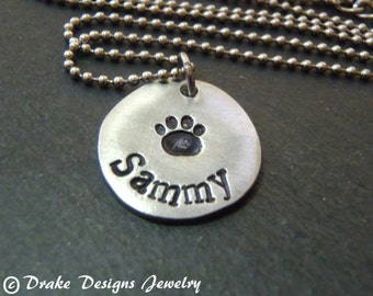 Personalized pet necklace custom dog necklace personalized cat or dog gift for pet lover