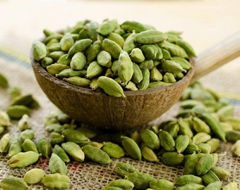 GREEN CARDAMOM 100 g FREE Shipping Pure and Organic