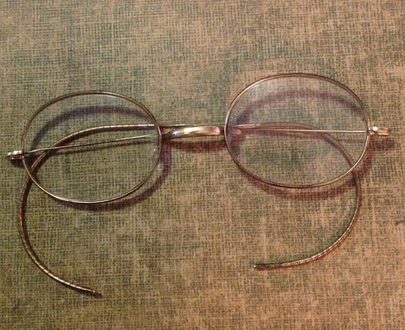 antique metal wire frame spectacles eyeglasses eye glasses