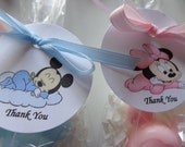 10 Large Mickey and Minnie Mouse Favors, Baby Showers, Special Occasions, Mickey and Minnie Mouse
