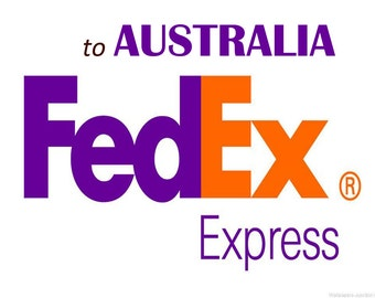 Shipping via FedEx Express to Australia, See inside for complete details,  Australian Buyers only