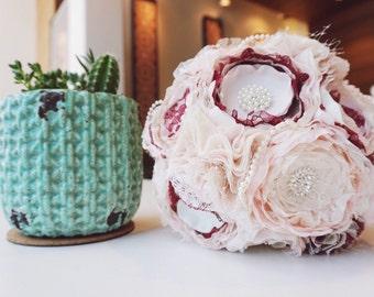Fabric bouquet, fabric flower bouquet, broocb bouqhet