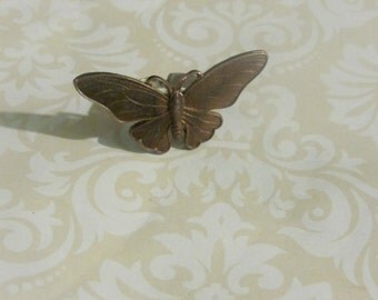 Ring, Brass Butterfly Adjustable Ring