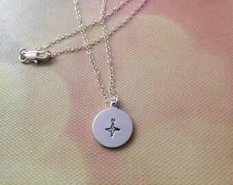 True North Compass Necklace, Inspiration Necklace, Purpose Necklace, Find Your True North Necklace, Compass Necklace