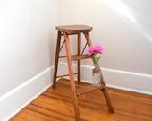 Step Stool, Kitchen Stool Shabby Chic, Wood