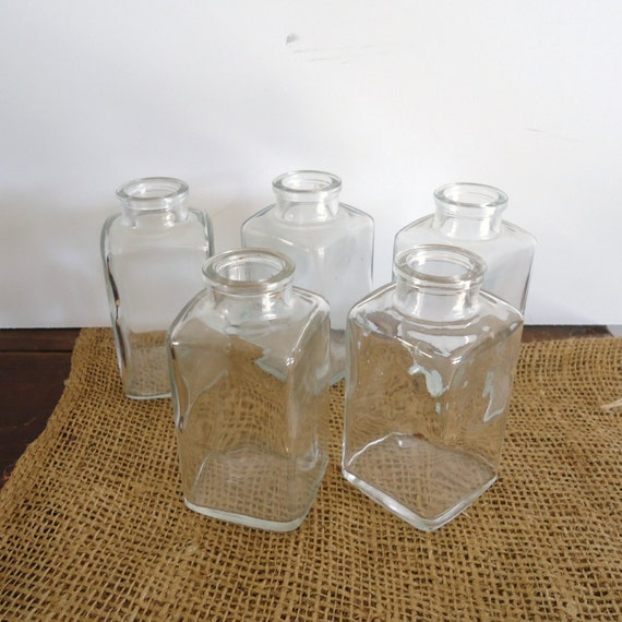 Old bottles 5 old medicine bottles bathroom decor antique for Bathroom bottles