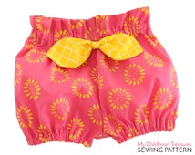 Baby Bloomer pattern pdf,  high waisted bloomer pattern, paper bag bloomer pattern, baby sewing pattern pdf, BECCA BLOOMERS BABY