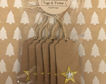 Gold Star Gift Tag Set