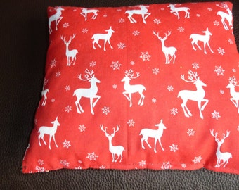 SMALL XMAS Reversible Reindeer Cushion 9 X 10''