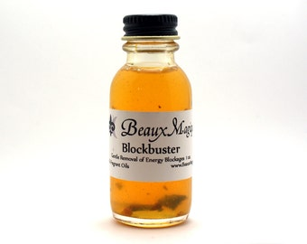 Blockbuster ~ remove blockage, Occult oils, Condition oil, Hoodoo Oil, Conjure oil, rootwork, uncrossing, road opener, spiritual supplies