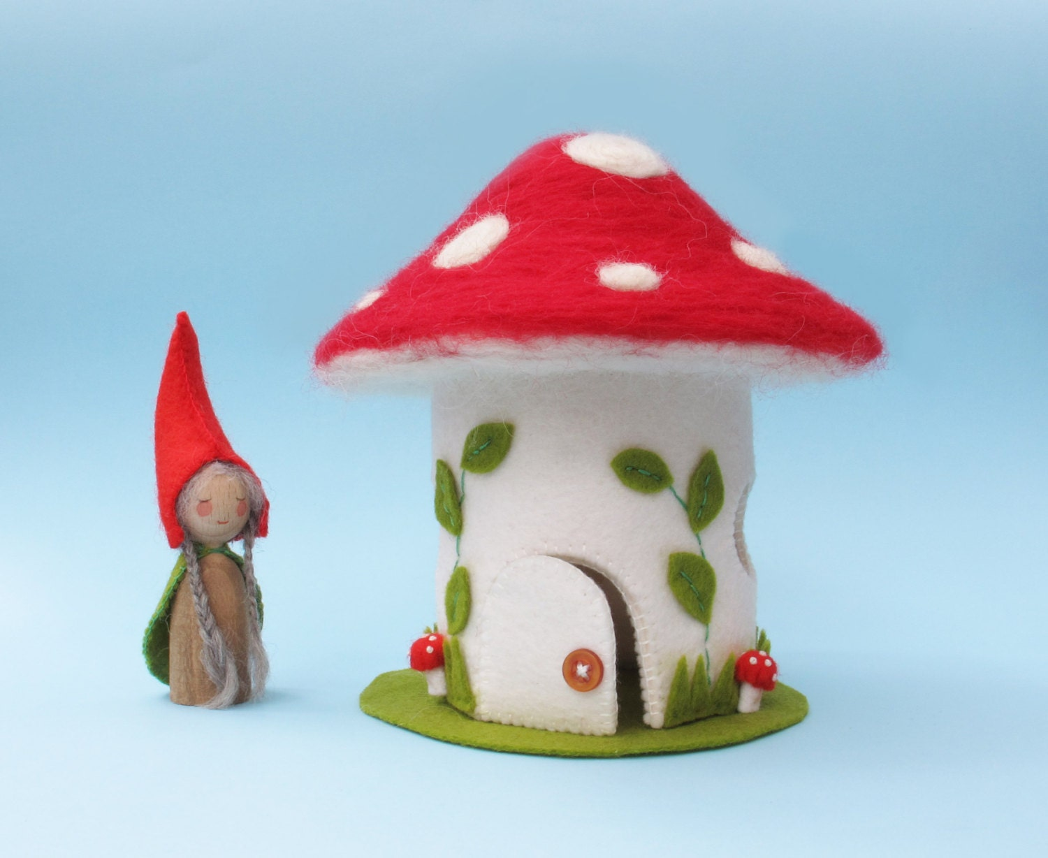 Toadstool House Amp Felt Gnome Peg Doll Sewing Pattern Pdf