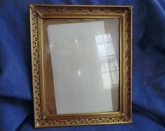 Old Fancy Metal Picture Frame