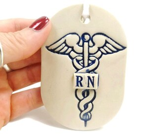 Nurse Gift, Caduceus Ornament, Doctor Gift, Nurse Graduation, RN Gift, Nursing Student, LPN Gift, Medical Gift, MD Gift, Nurse Décor
