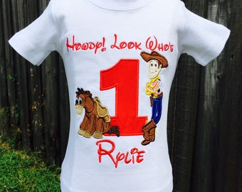 TOY STORY-Personalized Embroidered Birthday T-shirt