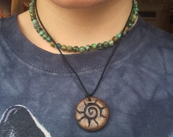 Handmade Sunshine Pendant // Hippie // Tribal