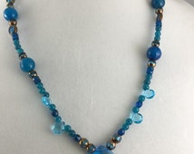 Blue for You Beaded Necklace