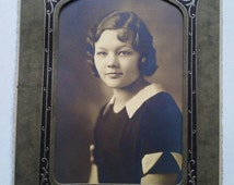 Antique Photograph of A Lovely Young Lady Silver Gelatin Finger Waves